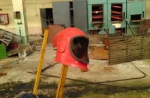 Пожарный шлем с замкнутой системой дыхания на Юпитере