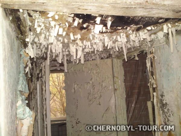 Потолок квартиры в Припяти