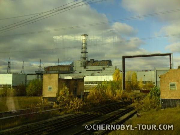 Вид на атомную станцию