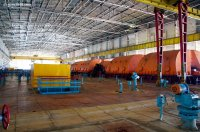 La salle des machines (turbines)